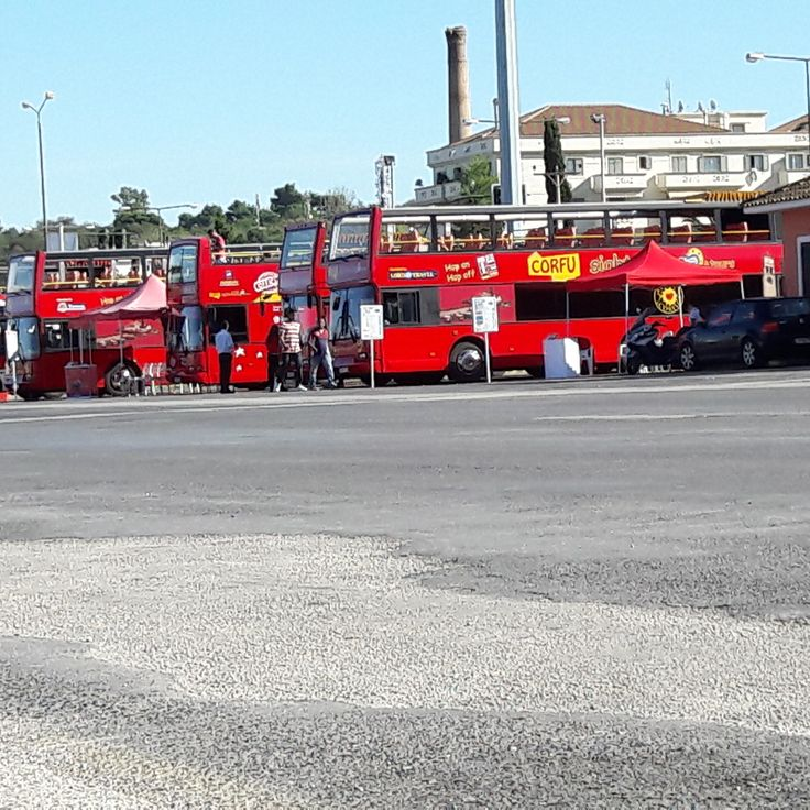 Time for a break! :D #corfuSightseeing #citySIghtseeingCorfu #bus #hoponhopoff