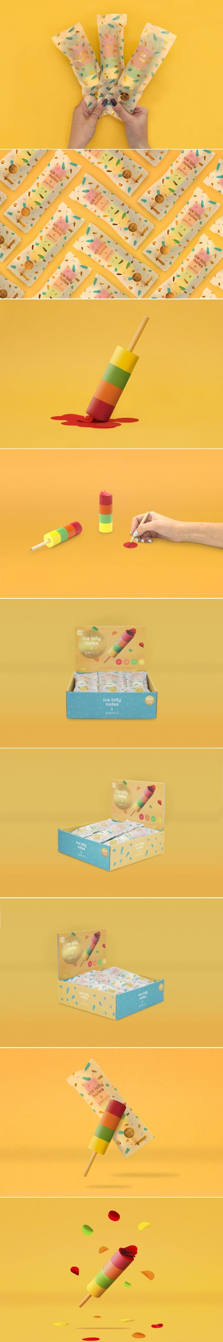 Ice Lolly Notes Are the Adorable Sticky Notes You Need In Your Life — The Dieline | Packaging & Branding Design & Innovation News
