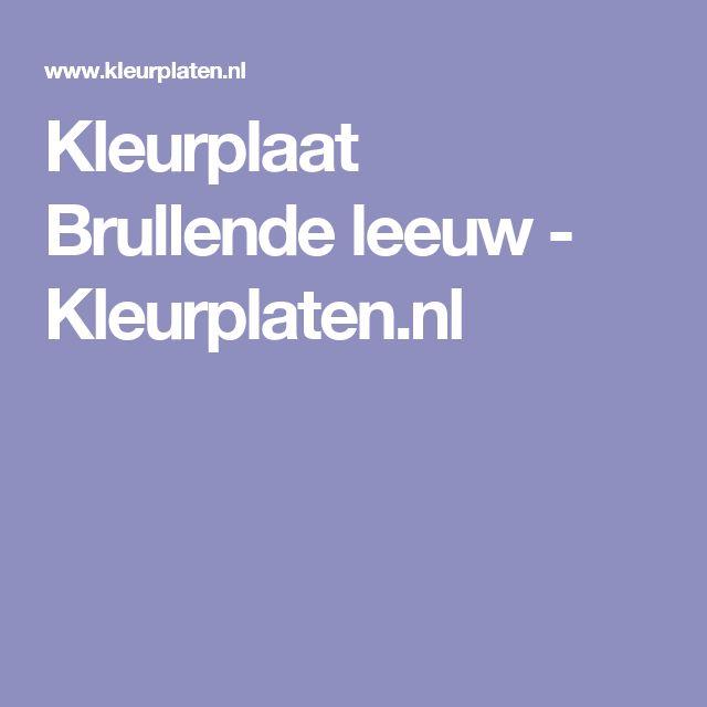 Kleurplaat Brullende leeuw - Kleurplaten.nl