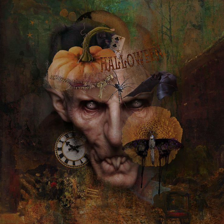 I used the Creepy album Hallow & ButterflyEffect by foxeysquirrel designs With Teddi Rutschman. ©Ina DigitalArt 2017.-Ina Rijkens. http://shop.scrapbookgraphics.com/FS_Hallow.html