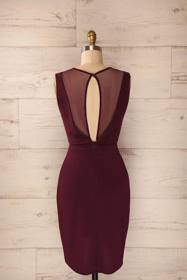 Ravenne - Purple mesh cut-outs wrap dress