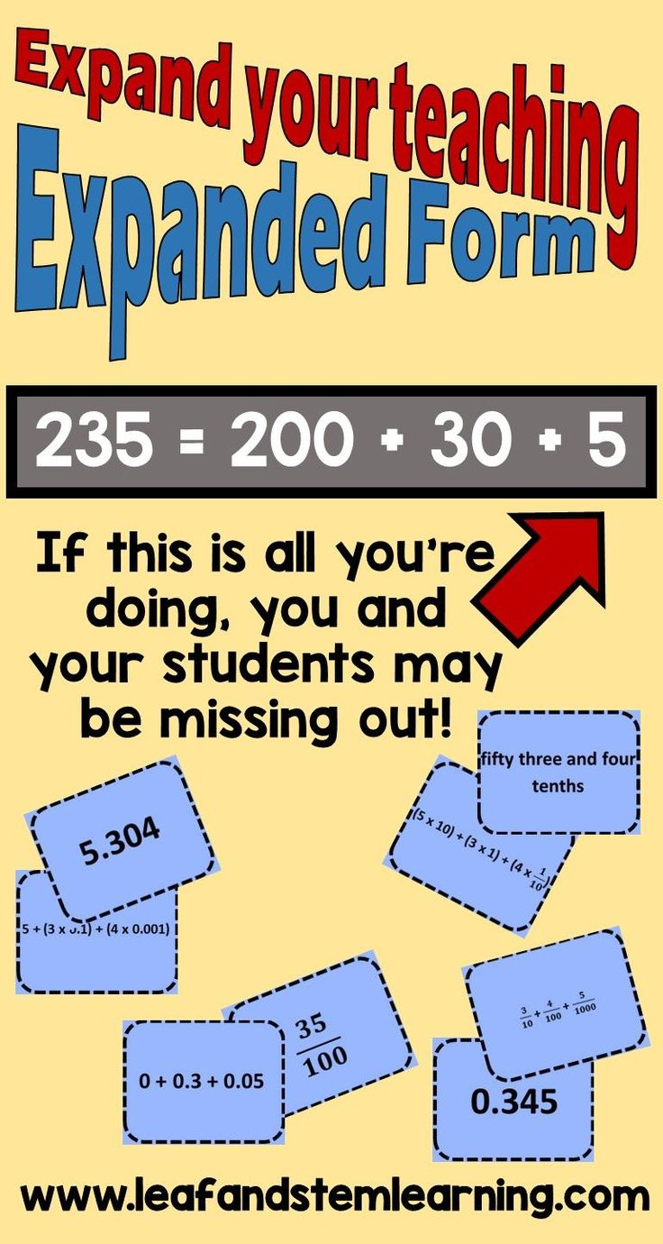 102 best number systems images on pinterest 4th grade math are you teaching expanded notation in all of its forms read about the differences in falaconquin
