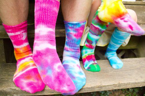 tie-dye socks!
