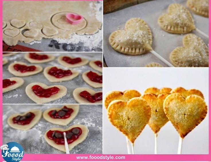 Ciasteczka w formie lizaków o ksztalcie słodkich serduszek. Źródło: fanpage foodstyle.com