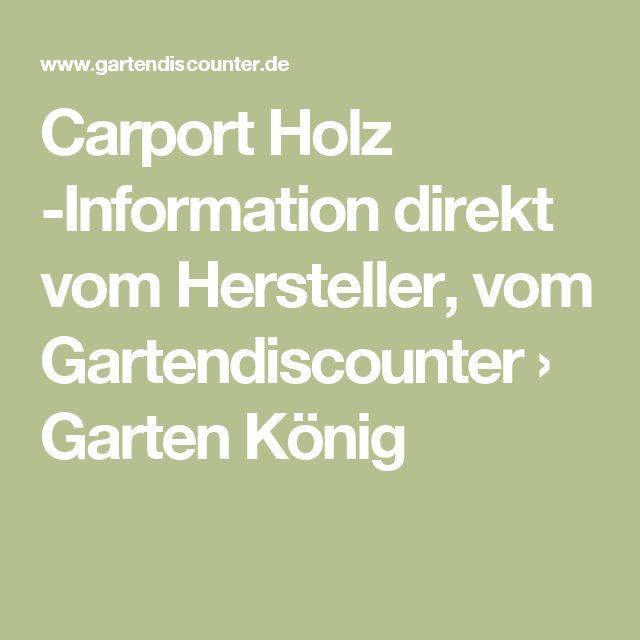 Luxury Carport Holz Information direkt vom Hersteller vom Gartendiscounter ua Garten K nig