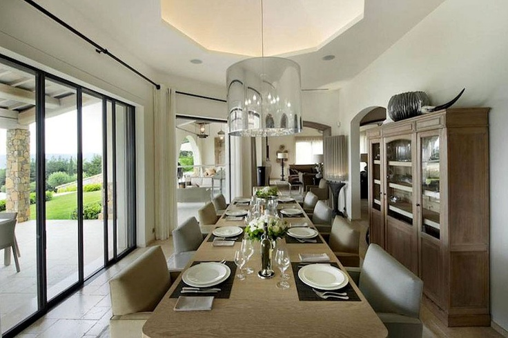 Dining room from one of the most exclusive properties in Saint Tropez!