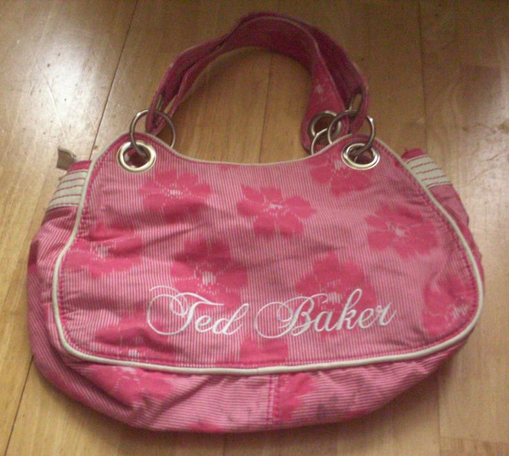 Ted Baker Pink Hand/Shoulder bag, Very Pretty, Ted Baker Embroidery Logo L@@K!!