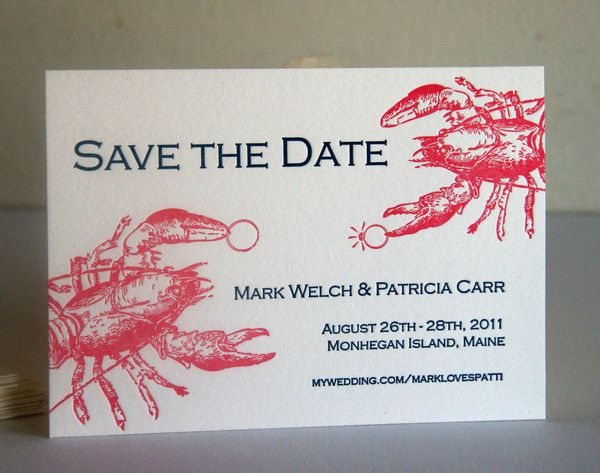 Lobster Save the Date | Steel Petal Press