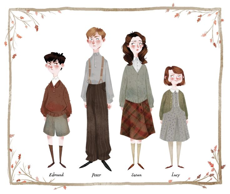 """MY CHILDREN! <3 The colder weather has got me feeling the Narnia nostalgia. "" by Taryndraws"