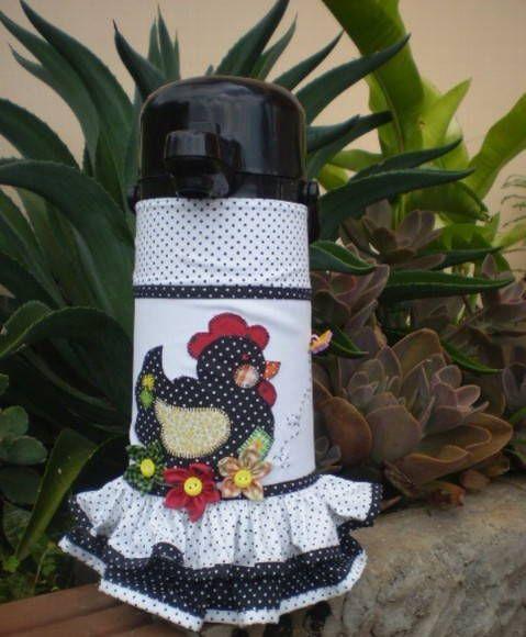 capa para garrafa termica em patchwork - Pesquisa Google