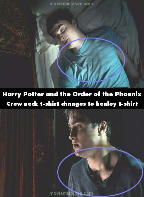 T-Shirt changes - Top 15 biggest Harry Potter film mistakes