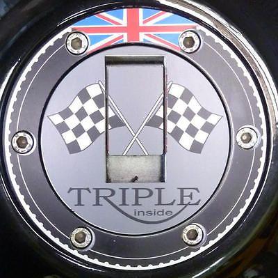 Tank gas cap cover Triumph Sprint ST RS GT 900 955 i 1050 Rocket Classic III ALU