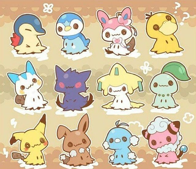 Oh my god, I love the Cyndaquil, Gengar, Jirachi, and Flaafy onesss aa