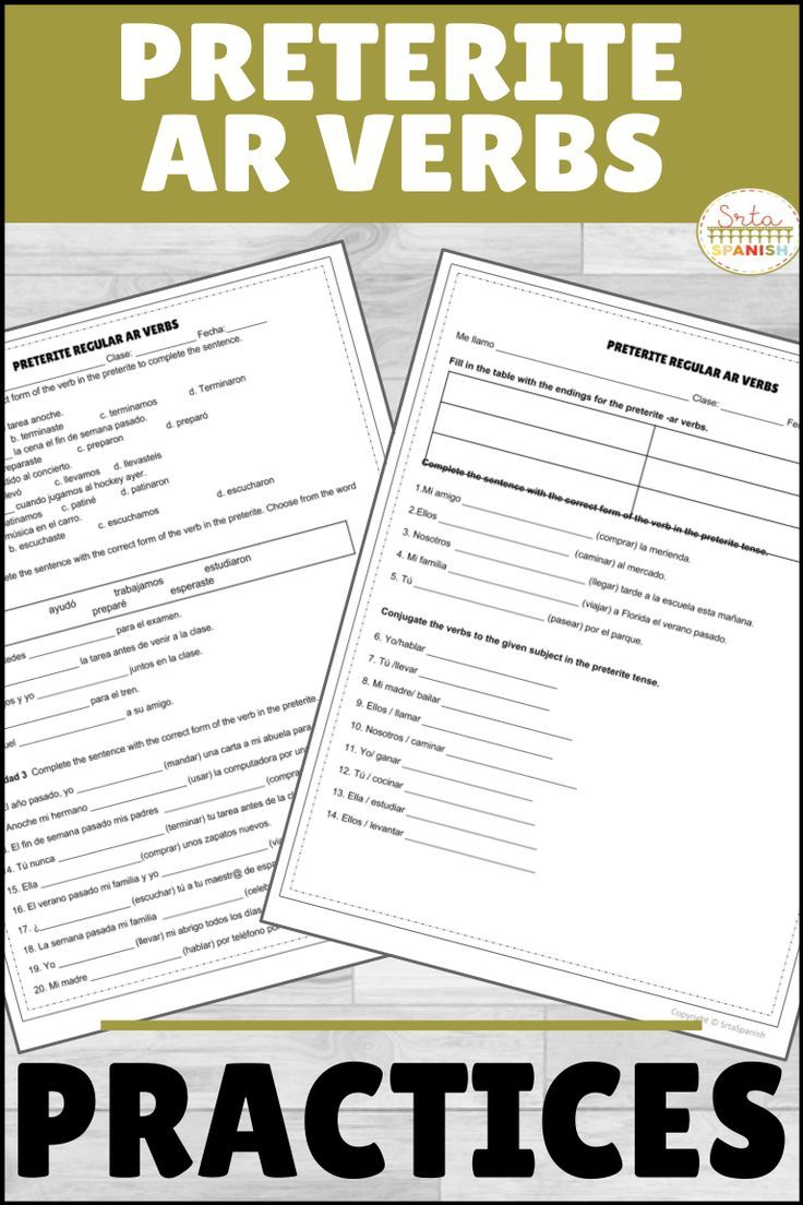 Are You Looking For Activities To Practice The Preterite Tense With Your Spanish Classes This Is A Set Spanish Lesson Plans High School Spanish Verb Practice [ 1104 x 736 Pixel ]