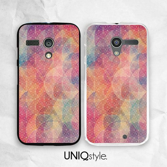 Colorful Geometric pattern phone case  Moto G case  by Uniqstyle, $9.99