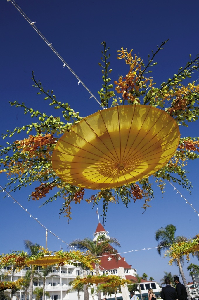 Umbrella and flowers  #party decorations