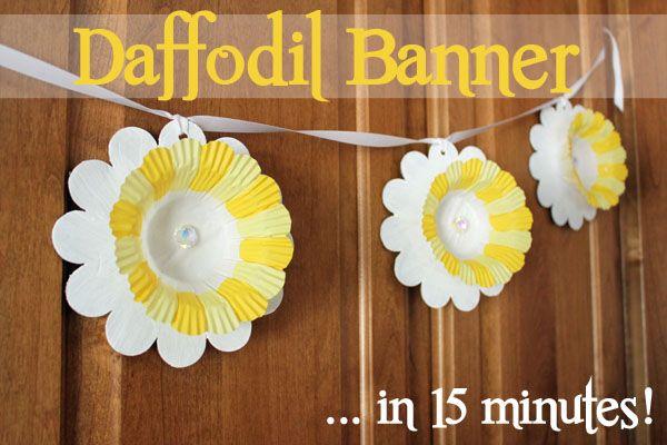 15 Minute Daffodil Banner