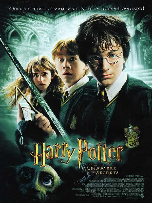 Harry Potter et la chambre des secrets (2002) - de Chris Columbus - avec Daniel Radcliffe, Rupert Grint, Emma Watson