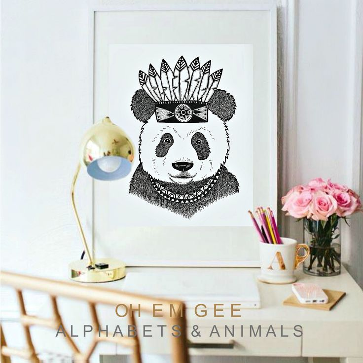 'ZHEN' Panda Print - Exclusive to Oh Em Gee