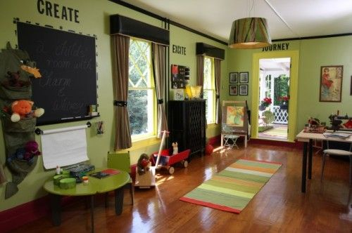 Play room/art room: Decor, Playrooms Ideas, Homeschool Rooms, Kids Playrooms, Schools Rooms, Plays Rooms, Colors, Design, Kids Rooms
