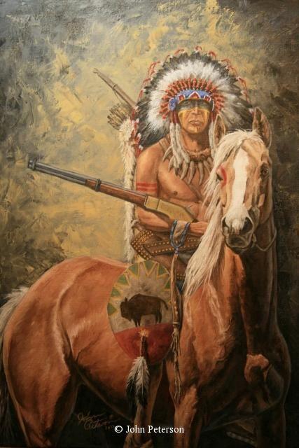 Painting John Peterson   ... man art - Western, Native American & Mountain Man Art by John Peterson