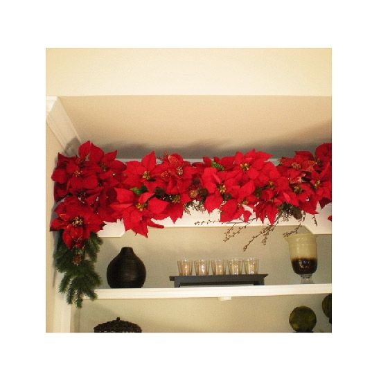 Poinsettia Christmas Decor