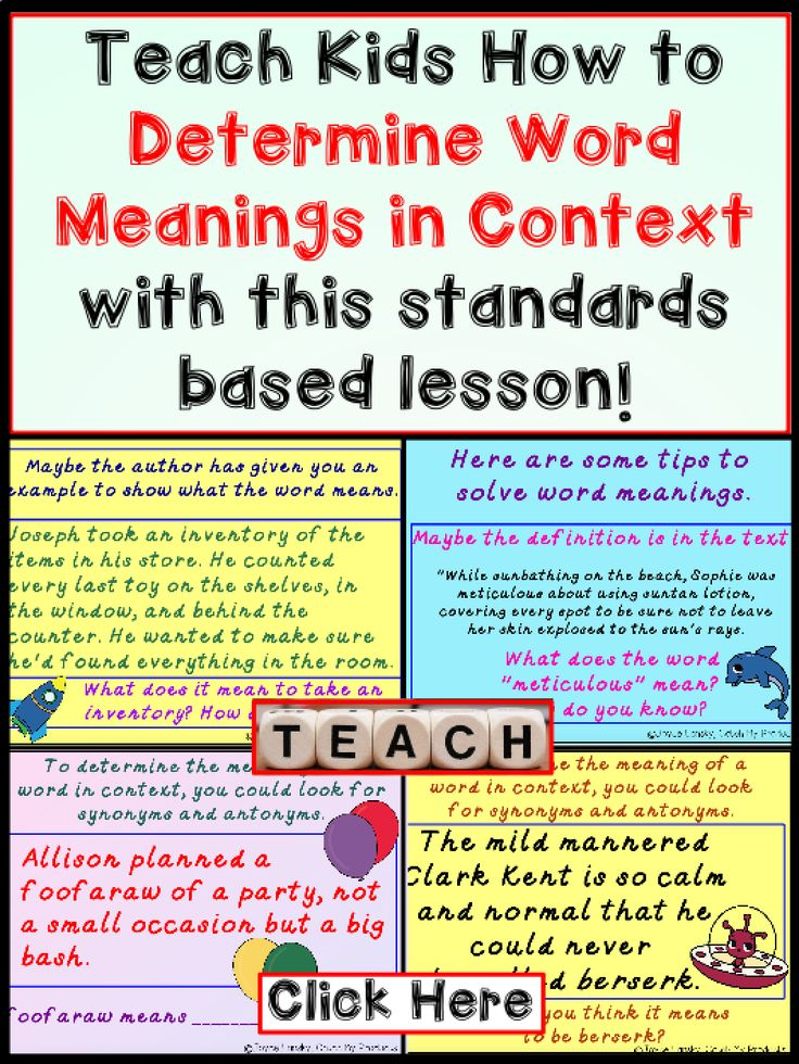 Word Meaning From Context Clues Improve reading