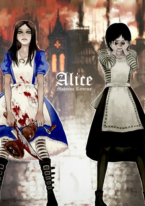 I can't I'm trapped in my past.Alice Madness Returns