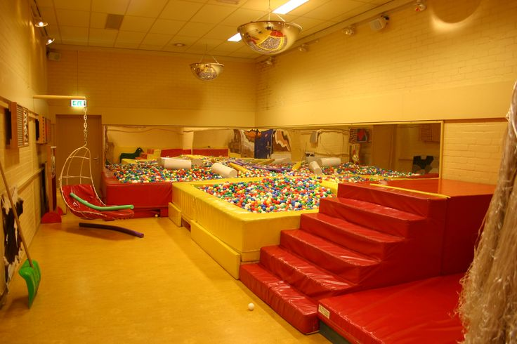 massive ball pit and stairs to practice on