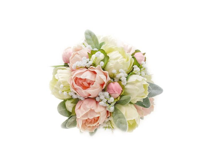 Stemple's Gatherings - A grouping of Real Touch Artificial Peonies, Baby's Breath & Lamb's Leaf