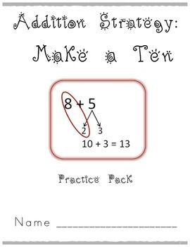 make ten addition strategy worksheets mr elementary math all about addition strategiesthird. Black Bedroom Furniture Sets. Home Design Ideas