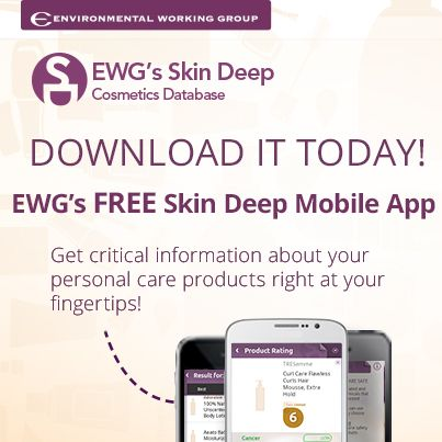 DOWNLOAD TODAY! The FREE Skin Deep mobile app for iPhone and Android. Scan bar codes - in the store! -  to get Skin Deep safety scores while you shop. Don't ever put risky chemicals on your skin again. Shop with power!
