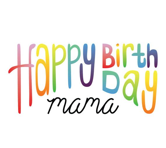 Happy Birthday Mama Card by MCreativeJ on Etsy