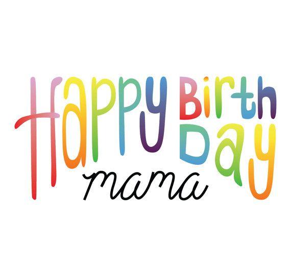 Happy Birthday Mama Card by MCreativeJ on Etsy