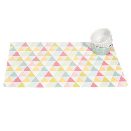 Maisons du monde set de table motifs triangle graphique for Maison du monde table