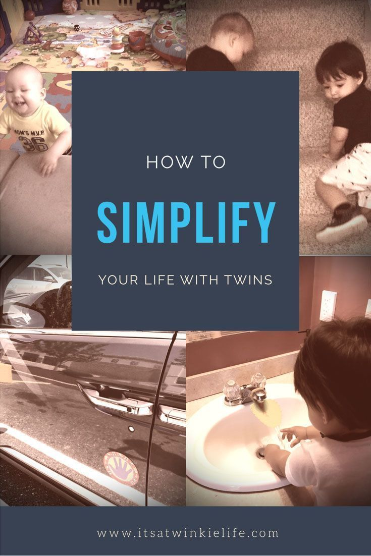 How to simplify your life with twins. Learn the 5 things that will simplify twin parenting, from teaching critical skills to using products that will make raising twins easier.