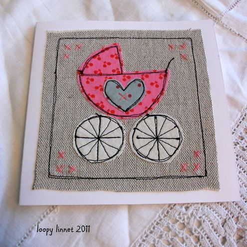 Baby Girl Congratulations card - Folksy