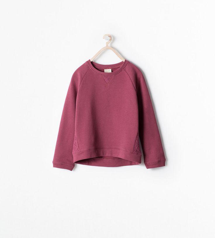 Image 1 of LACE SWEATSHIRT from Zara