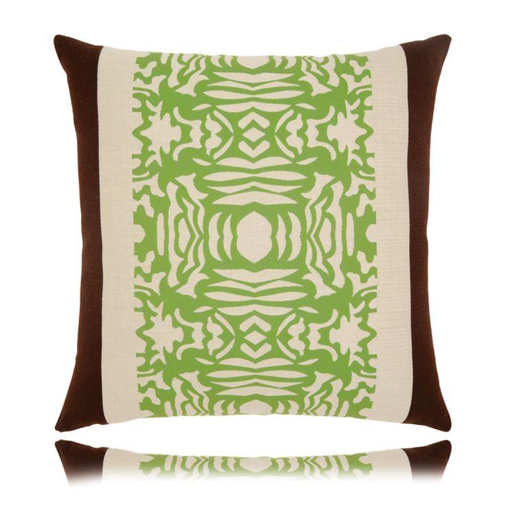 Outdoor Designer Gingko Stripe Pillow (20X20) From Elaine Smith