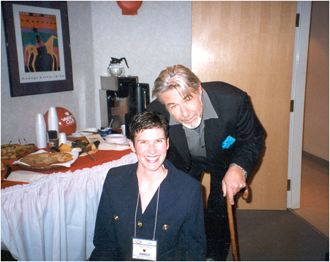 Meeting Jim Byrnes at the Variety Club Telethon in Vancouver.  February 2000