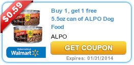Put more cents in your Disney Trip Piggy Bank. Buy 1, get 1 free 5.5oz can of ALPO Dog Food