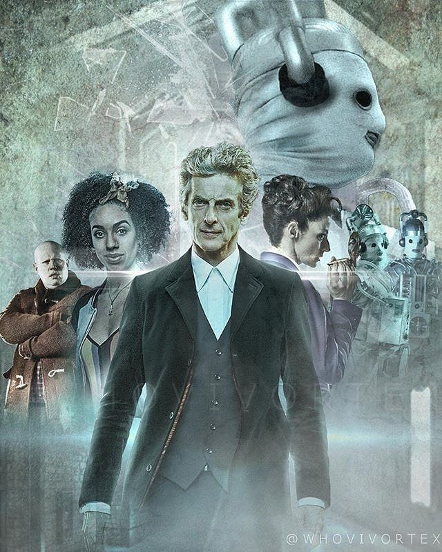 This excellent season 10 art piece was created by @haydn.maclean and features the Mondasian Cybermen who will make an appearance in episodes 11 and 12! #DoctorWho
