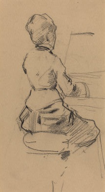 Jean-Louis Forain  Young Woman Seated at a Piano [verso], c. 1890  Collection of Mr. and Mrs. Paul Mellon  1995.47.39.b. From the NGA Archive.