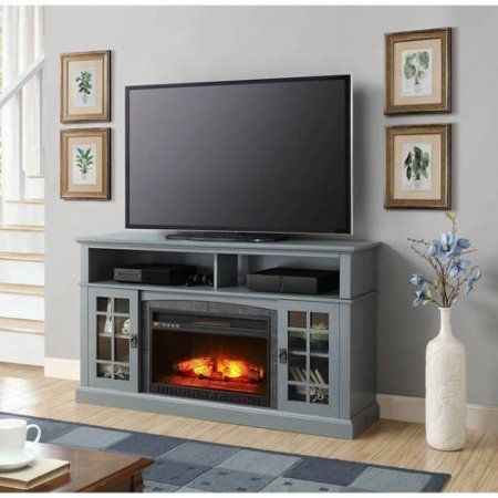 Better Homes and Gardens Mission Media Fireplace for TVs up to 65 inch, Antique Blue