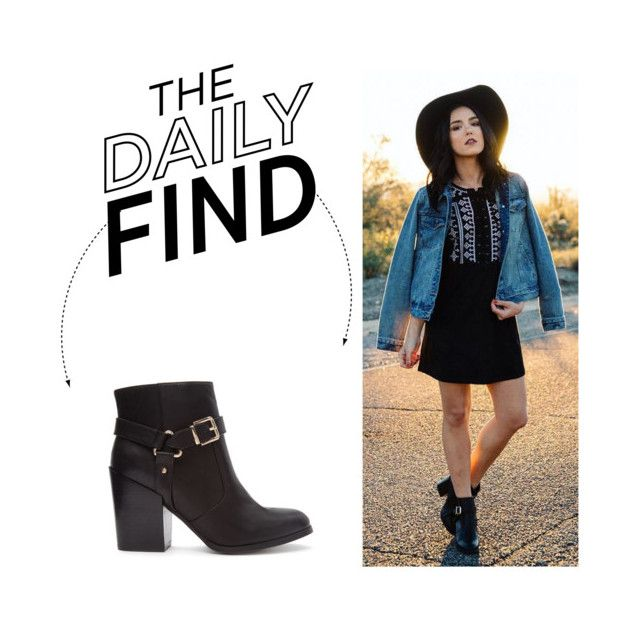 """The Daily Find: Forever 21 Buckle Boots"" by polyvore-editorial ❤ liked on Polyvore featuring Forever 21, women's clothing, women's fashion, women, female, woman, misses, juniors and DailyFind"