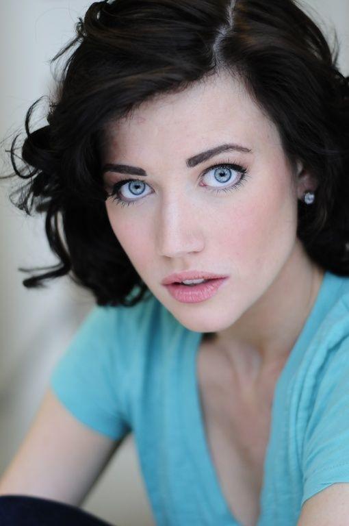 dark hair blue eyes woman nude
