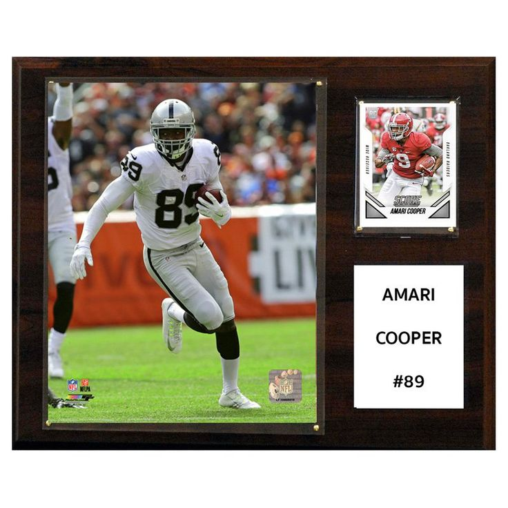 C and I Collectables NFL 15W x 12H in. Amari Cooper Oakland Raiders Player Plaque - 1215ACOOPER
