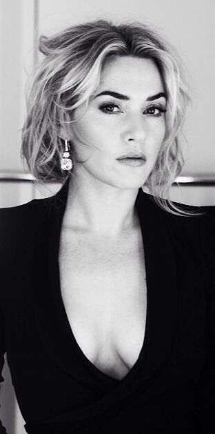 Kate Winslet. My supposed doppelgänger.  Sometimes I see it, sometimes I don't.  I like this cut should I decide to do that again.