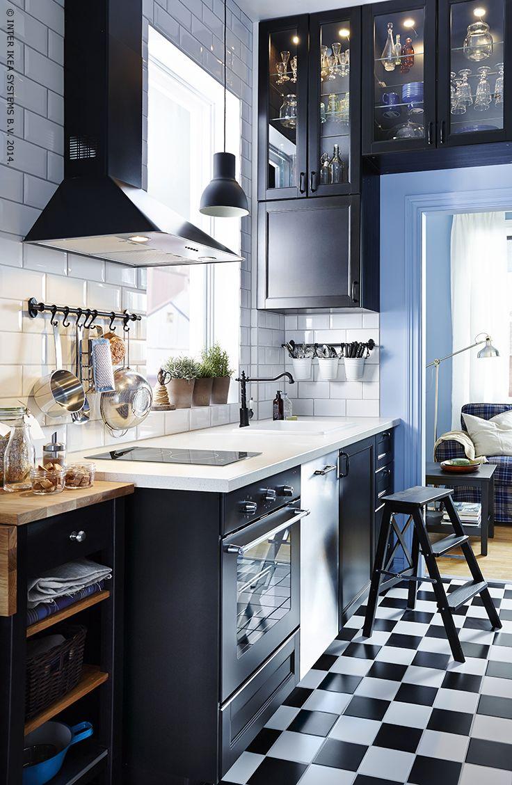 113 best images about keuken on pinterest tes armoires - Cuisine ikea noire mat ...