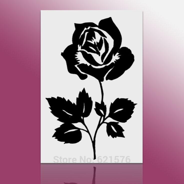 Black rose flower on white